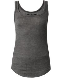 Isabel Marant Ribbed Silkjersey Tank Top - Lyst