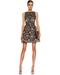 Alice + Olivia Alice  Olivia Lillyanne Puff Skirt Silk Dress - Lyst