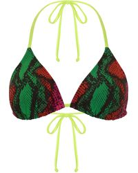 House of Holland - Pink/ Green Snake Bikini - Lyst