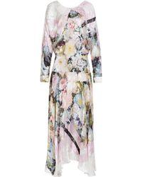 Preen Printed Silk Blend Dress - Lyst