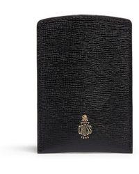 Mark Cross Saffiano Leather Business Card Case - Lyst