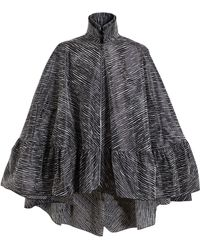 Antonio Berardi Textured Voluminous Drop Hem Cape - Lyst