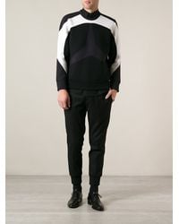 Neil Barrett Stripe Feature Sweater - Lyst