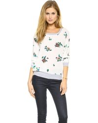 Splendid Ashbury Blooms Woven Top White - Lyst