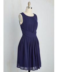 Moon Collection - One Moment, Pleats A-line Dress In Cobalt - Lyst