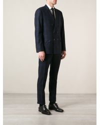 Brunello Cucinelli Check Print Suit - Lyst