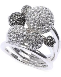 Judith Jack Sterling Silver Crystal and Marcasite Multi-ball Ring - Lyst