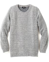 A.P.C. Basic Tweed Sweater - Lyst