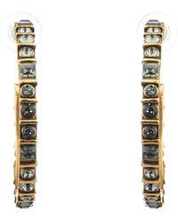 Oscar de la Renta Crystal Hoop Earrings - Lyst