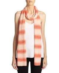 Missoni Striped Scarf orange - Lyst