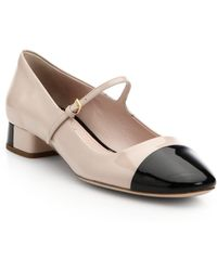 Miu Miu Bicolor Patent Leather Mary Jane Pumps - Lyst