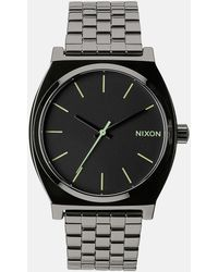 Nixon Time Teller Gunmetal Stainless Steel Strap Watch A045 - Lyst