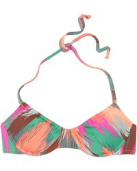 Madewell Ruched Bikini Top in Electric Ikat - Lyst