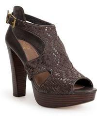 Elliott Lucca Bernadette Leather Platform Heels - Lyst
