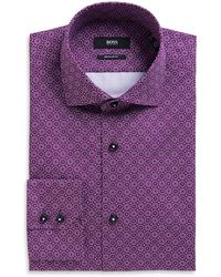 Hugo Boss Gorman Regular Fit Spread Collar Cotton Dress Shirt - Lyst