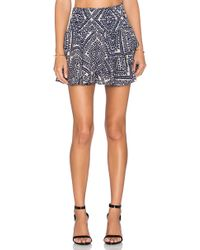 T-bags - Printed Mini Skirt - Lyst