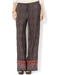 Lauren by Ralph Lauren Geoprint Wideleg Pants - Lyst