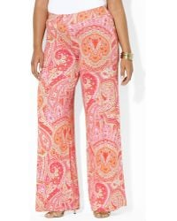 Ralph Lauren Lauren Plus Picka Full Length Pants - Lyst