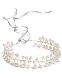 Nestina Accessories - Freshwater Pearls Bridal Head Piece - Metallic - Lyst