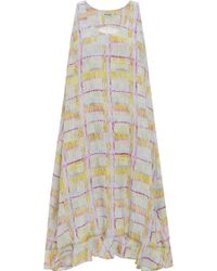 Suno Drippy Plaid Bubble Hem Shift Dress - Lyst