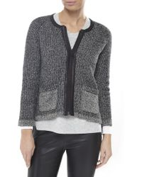 Rag & Bone Leather Trim Jackie Jacket - Lyst