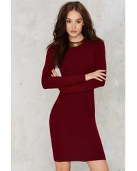 Nasty Gal | To Be Divine Ribbed Mini Dress | Lyst