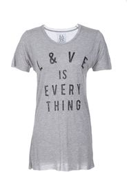 Zoe Karssen Short Sleeve Lve Is Everything Tee - Lyst