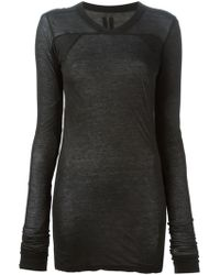 DRKSHDW by Rick Owens Long Sleeve T-Shirt - Lyst