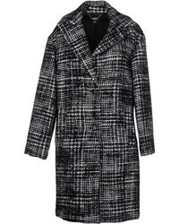 DKNY Coat black - Lyst