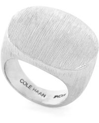 Cole Haan - Brushed Metal Ring - Brushed Silver - Lyst