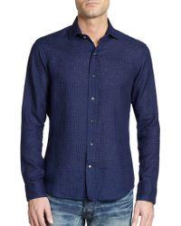 Ralph Lauren Black Label Sloan Geometric Print Shirt - Lyst