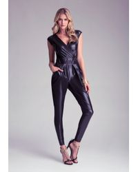 Bebe Surplice Wet Jumpsuit - Lyst