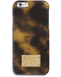 Michael Kors Faux-tortoise Phone Cover For Iphone 6 - Lyst