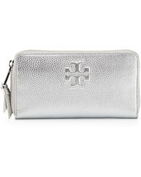Tory Burch Thea Continental Zip Wallet - Lyst