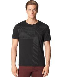 Calvin Klein Black Strata Tshirt - Lyst