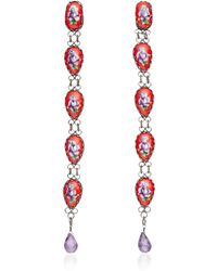 Masterpeace | Rostov Long Enamel Earrings | Lyst
