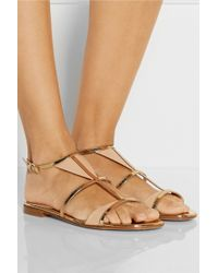 Gianvito Rossi Two-Tone Patent-Leather Sandals - Lyst