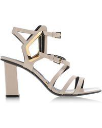 Gianmarco Lorenzi Sandals beige - Lyst