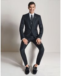 Dolce & Gabbana | Jacquard Three-piece Martini Fit Suit With Embroidered Bees | Lyst