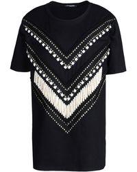 Balmain Short Sleeve T-Shirt - Lyst