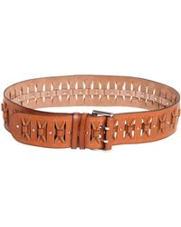 Emilio Pucci 60Mm Micro Studded Leather Belt - Lyst