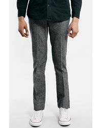 Topman Ultra Skinny Fit Houndstooth Trousers - Lyst