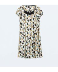 Zara Geometric Print Dress - Lyst