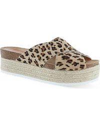 Carvela Kurt Geiger Kool Platform Sandals - For Women animal - Lyst