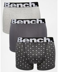 Bench - 3 Pack Boxers - Lyst