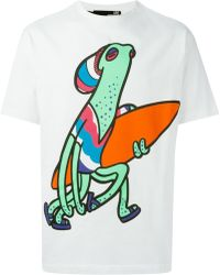 Love Moschino Surfer Octopus-Print T-Shirt - Lyst