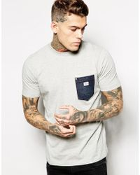 Diesel T-Shirt T-Elico-D Denim Pocket - Lyst