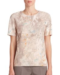 Piazza Sempione Abstract-Print Tee - Lyst