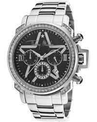 Thierry Mugler Womens Chronograph Silver-tone Steel Black Dial - Lyst