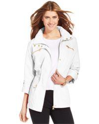 Style & Co. - Petite Zip-pocket Hooded Anorak - Lyst